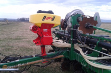 Машина за внасяне на микрогранулирана тор и семена APV